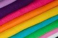 Fleece set set of colored fabric Stock Photography