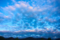 Fleecy clouds Royalty Free Stock Photo