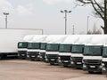 Fleet lorries Royalty Free Stock Photo