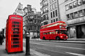Fleet street london uk selective color red Stock Image