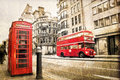 Fleet street, vintage sepia texture, London Royalty Free Stock Photo