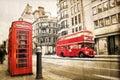 Fleet street, vintage sepia texture, London Royalty Free Stock Photo
