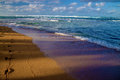 Fleeting footsteps, kauai's north shore, hawaii Royalty Free Stock Photo