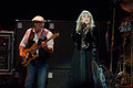 Fleetwood mac in concert sacramento ca july john mcvie l and stevie nicks of perform support of the bands extended play release at Stock Photography