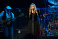 Fleetwood mac in concert sacramento ca july john mcvie l and stevie nicks of perform support of the bands extended play release at Stock Image