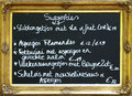 Flemish restaurant board Stock Photography