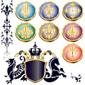 Fleur-de-lis and arms Royalty Free Stock Photos