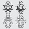 stock image of  Fleur-de-lis, the heraldic symbol of royal lily symbols for desi