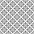 Fleur-de-lis seamless pattern. Vector illustration. Black white template. Floral texture. Elegant decoration, royal lily retro bac