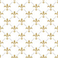 Fleur de lis seamless vector pattern. French Royalty Free Stock Photo