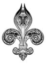 Fleur de Lis in Vintage Style Royalty Free Stock Photo