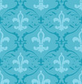 Fleur de lis wallpaper Stock Photos