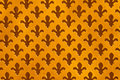 Fleur de lys antique background worn gold speckled cut outs Royalty Free Stock Images