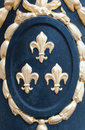 Fleur de lys medallion detail of a with Stock Photography