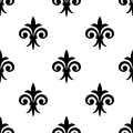 Fleur de lys seamless pattern background for any medieval design or wallpaper Stock Photo
