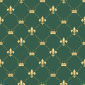 Fleur-de-lys seamless pattern Royalty Free Stock Photo