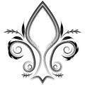 Fleur flourish an image of a de lis design element Stock Photos