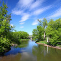 Fleuve de Kishwaukee en Illinois Photo stock