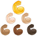 Flexed biceps hand emoji Royalty Free Stock Photo
