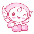 Flexibility as possible a sets of cherub mascot angel character design series Royalty Free Stock Photos
