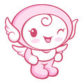 Flexibility as possible a sets of cherub mascot angel character design series Royalty Free Stock Photography