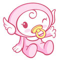 Flexibility as possible a sets of cherub mascot angel character design series Stock Image