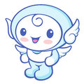 Flexibility as possible a sets of cherub mascot angel character design series Stock Photography
