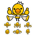 Flexibility as possible a sets of chicken mascot bird character design series Stock Images