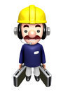 Flexibility as possible a sets of construction site man character work and job character design series Royalty Free Stock Photos