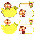 Flexibility as possible a sets of monkey mascot animal characte character design series Stock Photos