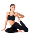Flexible athletic woman Stock Photography