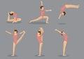 Flexible Gymnast Doing Gymnastics Royalty Free Stock Photo