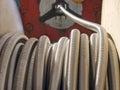 Flexible metal hose coil. Royalty Free Stock Photo