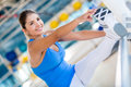 Flexible woman at the gym Stock Photos