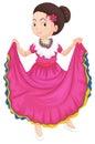 Flicka i traditionell klänning Royaltyfri Fotografi