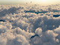 Flight above the clouds Royalty Free Stock Photo