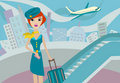 Flight attendant Stock Images