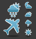 Flight conditions over black background vector illustration Royalty Free Stock Images