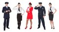 Flight crew members, pilots, stewardesses Royalty Free Stock Photo