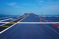 Flight deck of an aircraft carrier Royalty Free Stock Photo