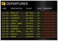 Flight departures board