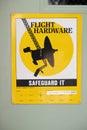 Flight hardware safeguard it quaint sign at jpl at la cañada flintridge Stock Photos