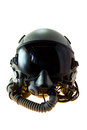 Flight helmet with oxygen mask aircraft or Stock Photos