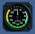 Flight Instruments - 2D - Airspeed Indicator Stock Photography