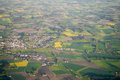 Flight over bavaria an image of a the bavarian landscape Royalty Free Stock Photos