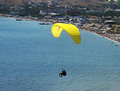 Flight on a paraglide with instructor Stock Photography