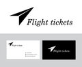 Flight tickets logo Stock Image