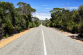 Flinders chase national park country road in the on kangaroo island south australia australia Royalty Free Stock Image
