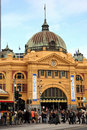 Flinders Station,Melbourne Royalty Free Stock Image