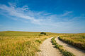 Flint Hills Gravel Road Royalty Free Stock Photo